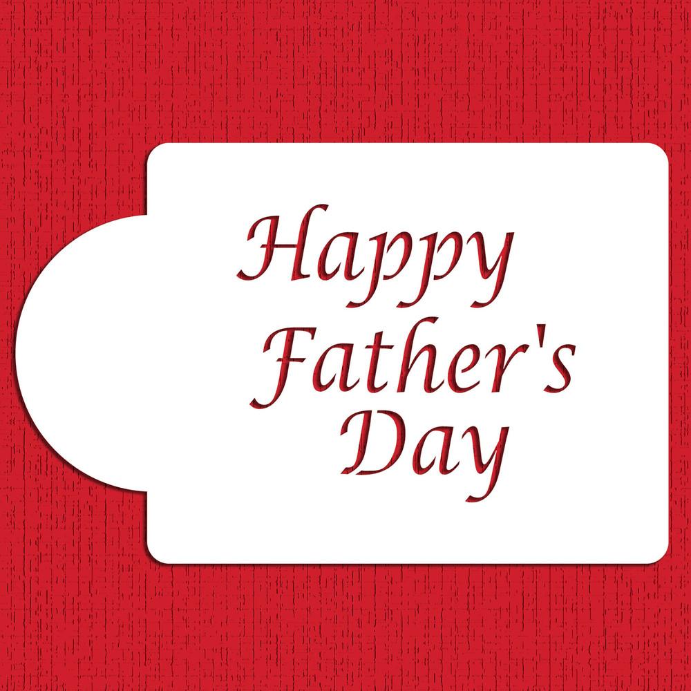 Happy Father's Day Cake Stencil