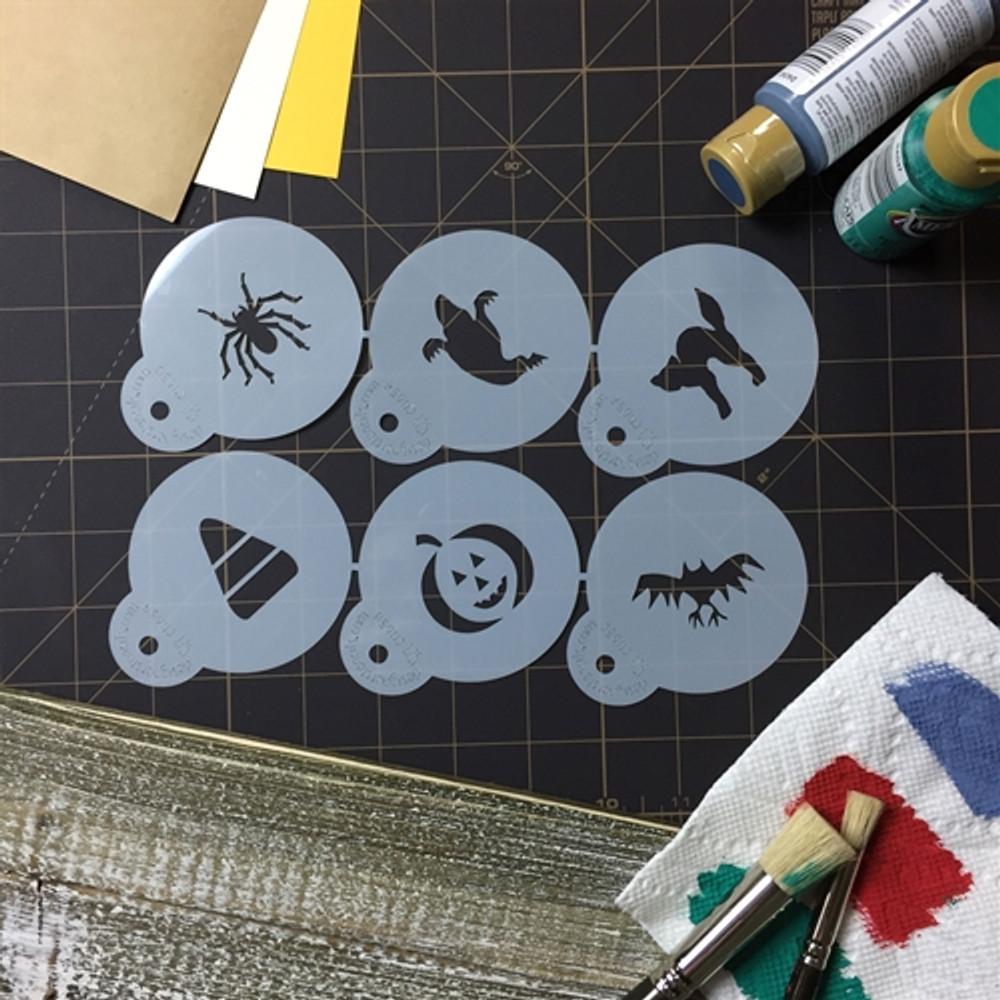 Halloween Cupcake/ Cookie Stencil Tops