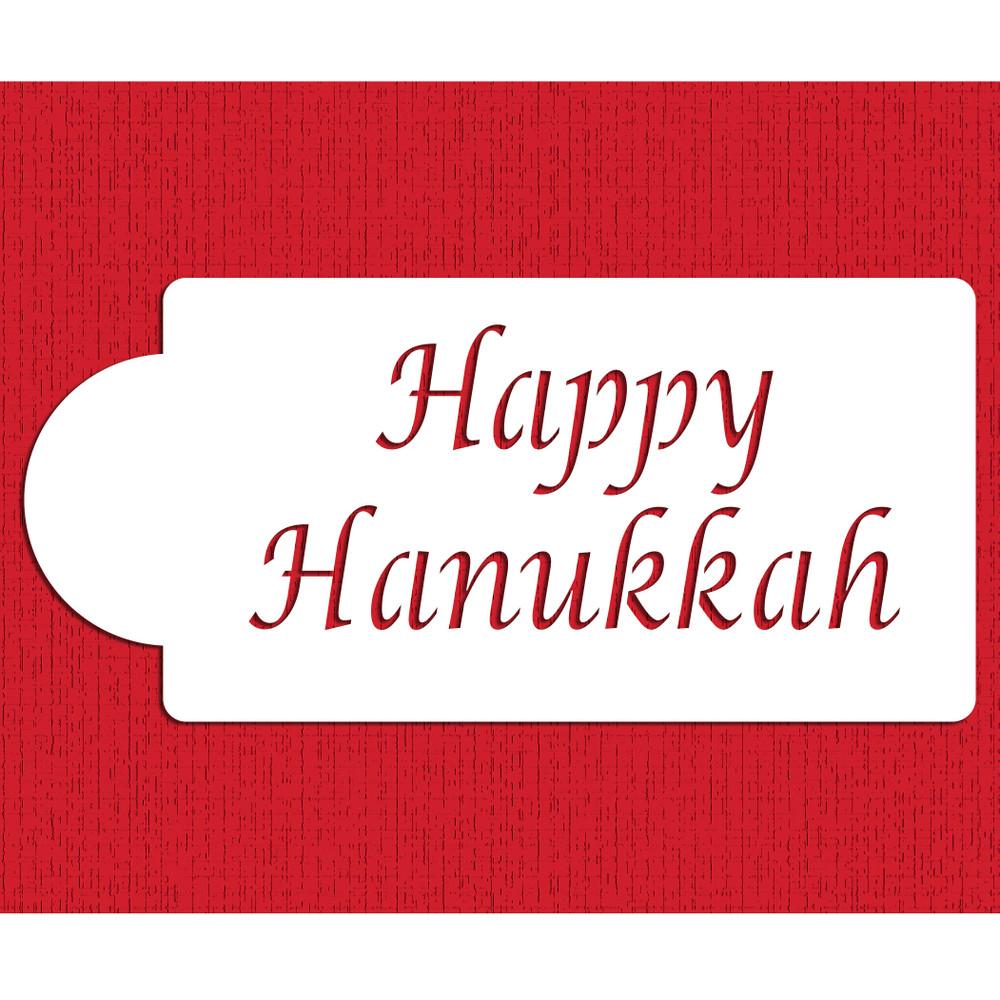 Happy Hanukkah Cake Stencil