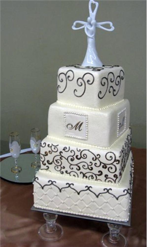 """1.25"""" Small Script Cake Stencil"""