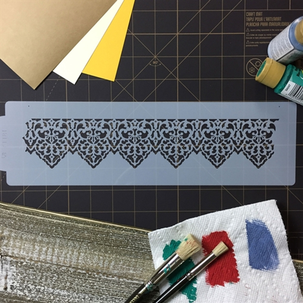 Pointed Lace Cake Stencil Side