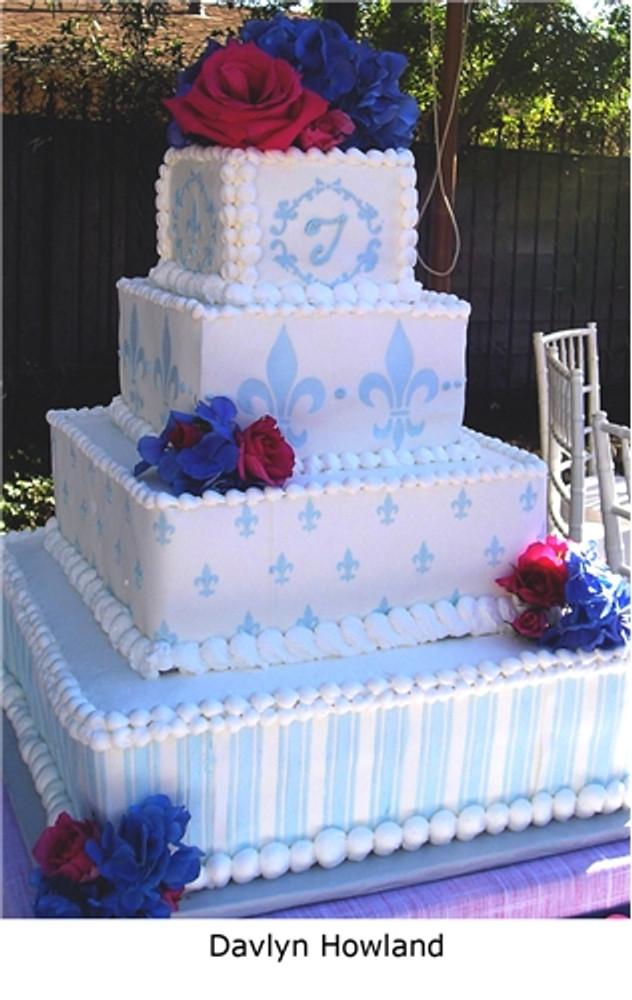 Fleur de Lis Overall Print Cake Stencil