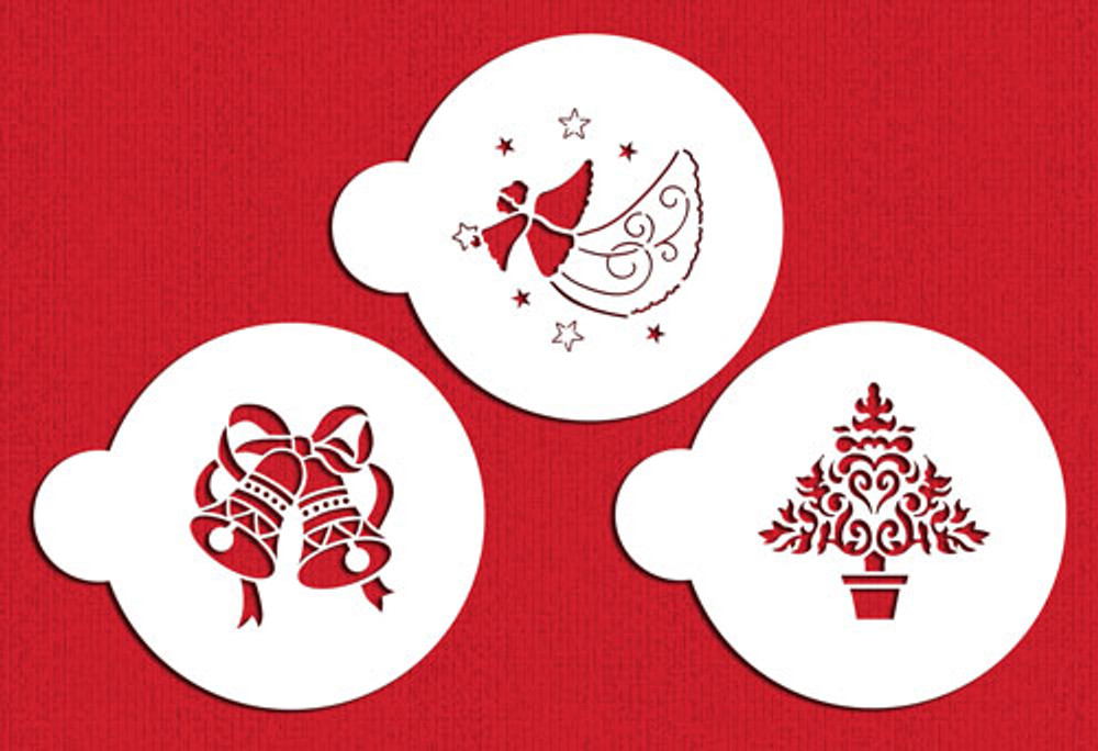 Christmas Stencil Cookie Tops