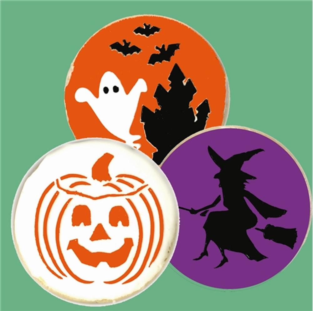"Halloween Cookie Stencil Tops 3.5"""