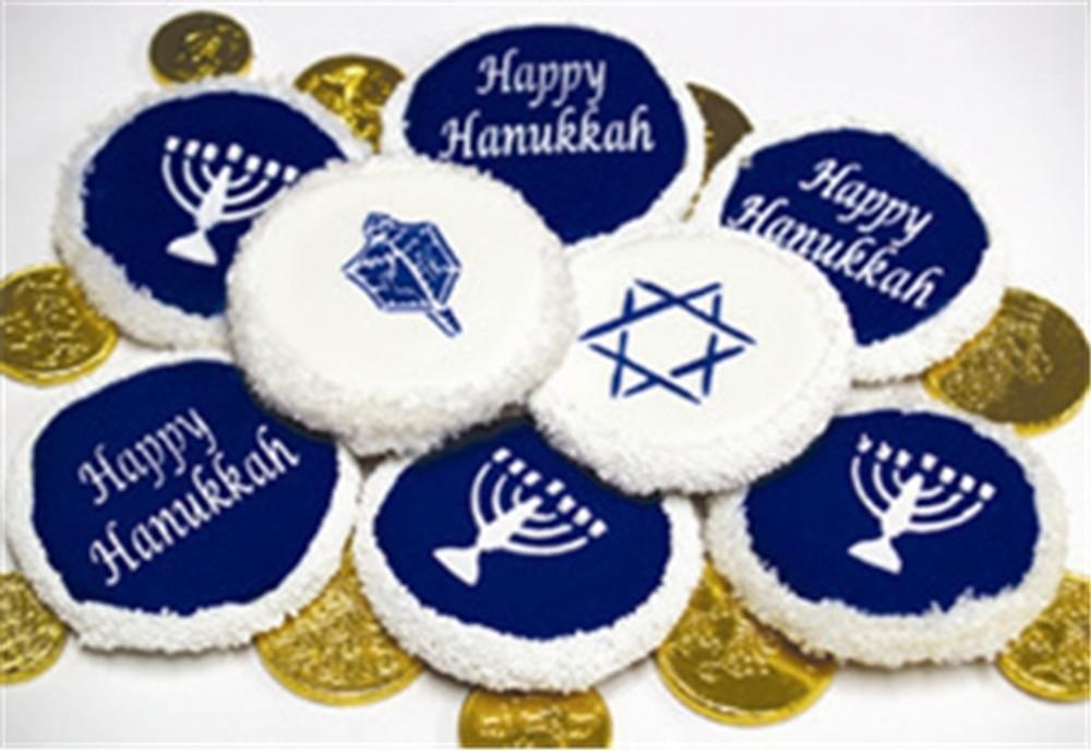"Jewish Symbols Cookie/Cupcake Top 3.5"""