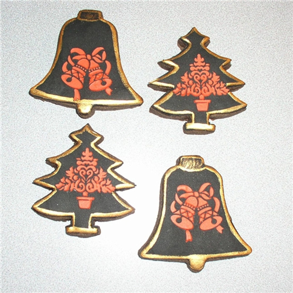 Small Christmas Candy/Cookie Stencil Tops 1.5""