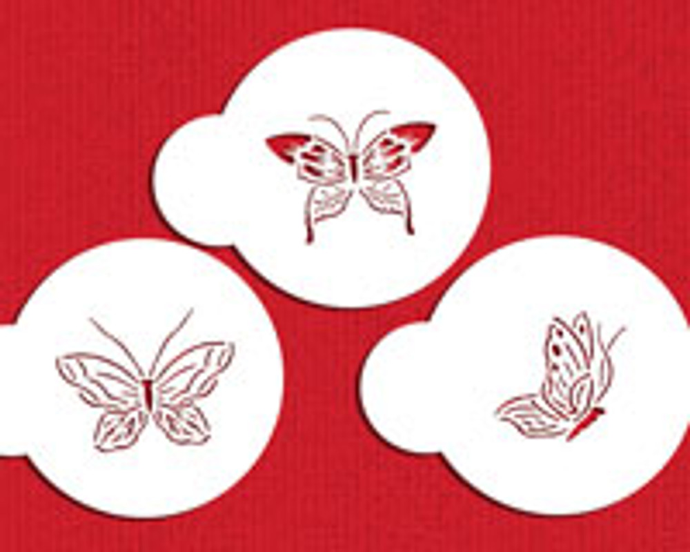 """Small Butterfly Tops 2"""" Cupcake Stencil"""