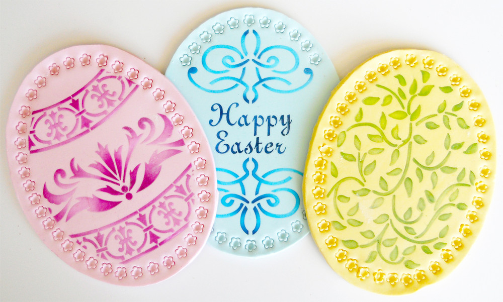 Large Easter Eggs Cookie Stencil