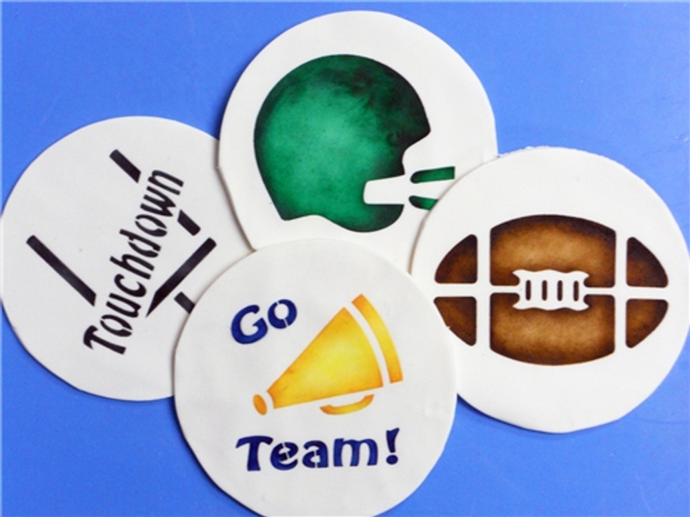 Large Football Cookie Stencils