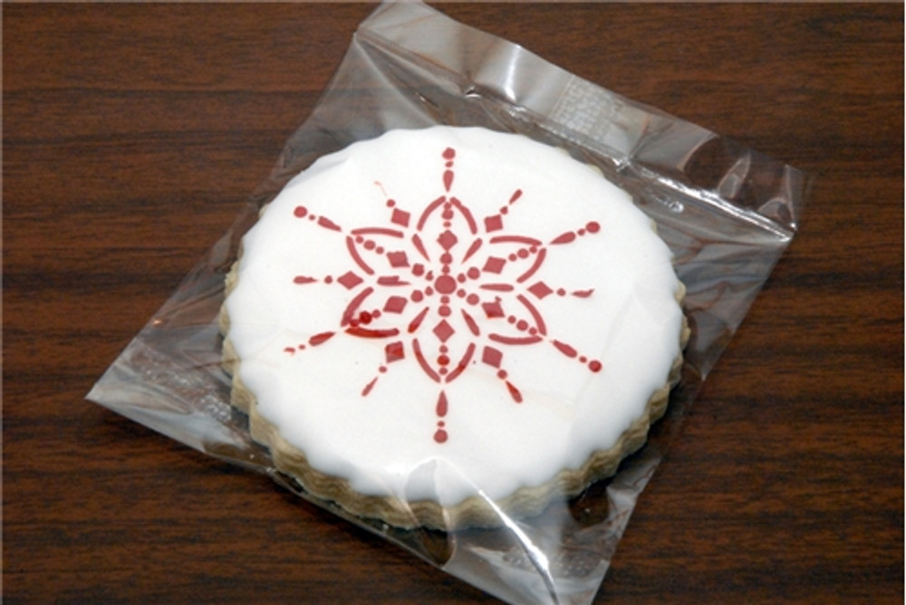 Small Jeweled Snowflakes Cookie Stencil