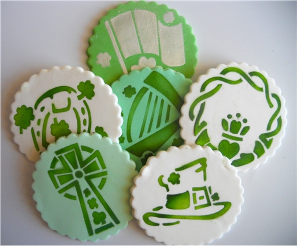 "Irish Celtic St. Patrick's Day Cookie 3"" Stencil"