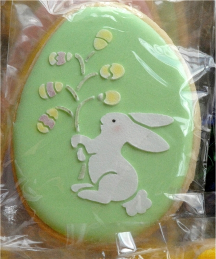 Easter Bunnies Cookie Stencil