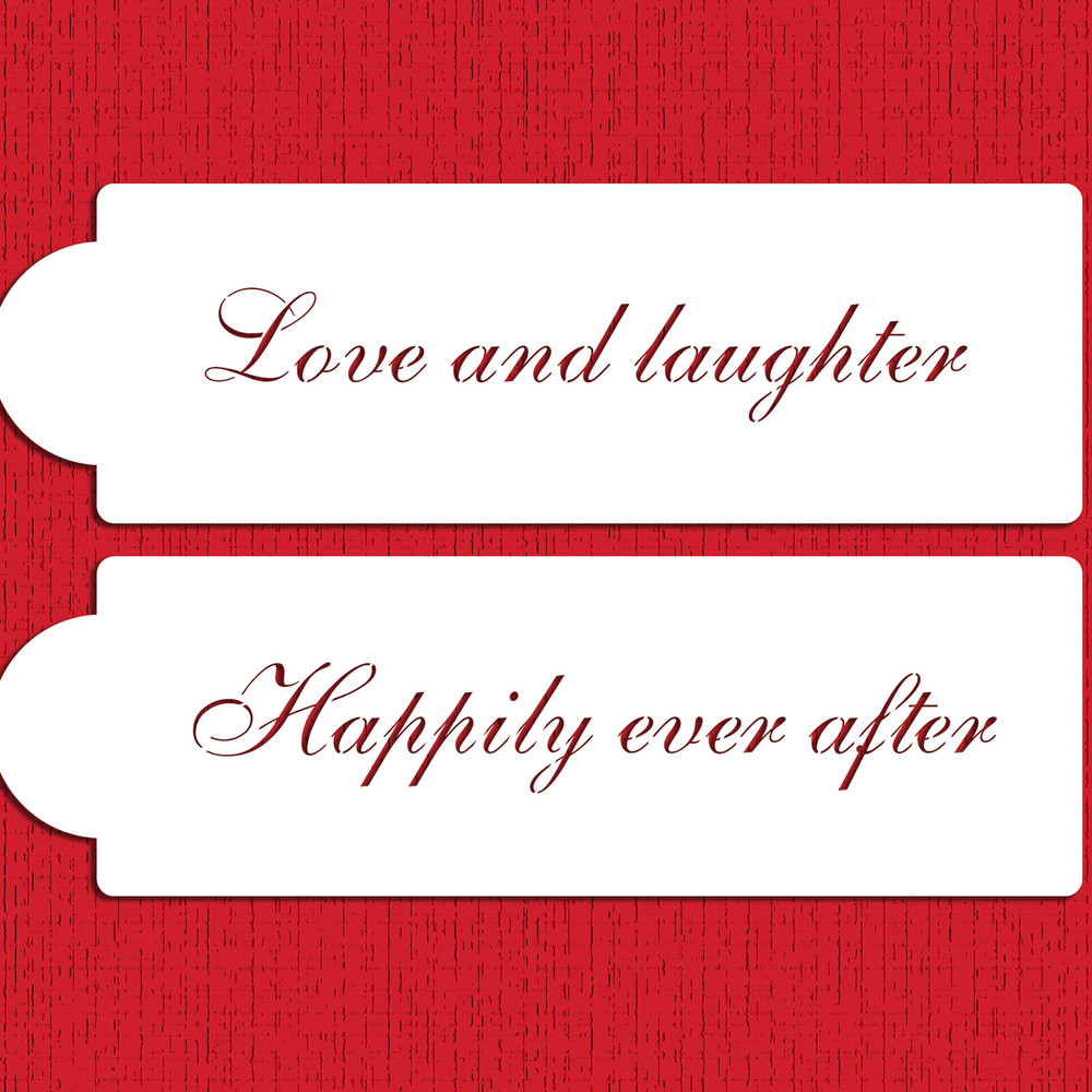 Love and Laughter Cake Stencil