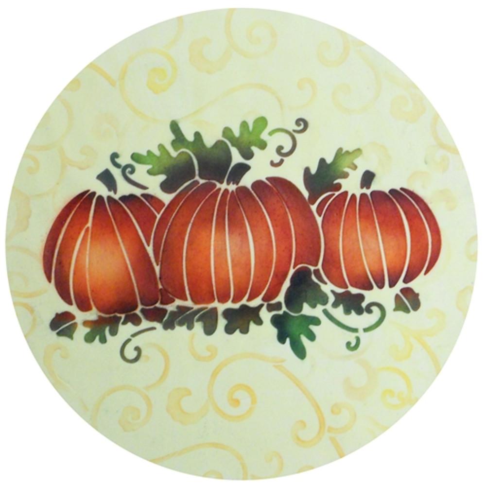 Leafy Scroll Cake Stencil Top