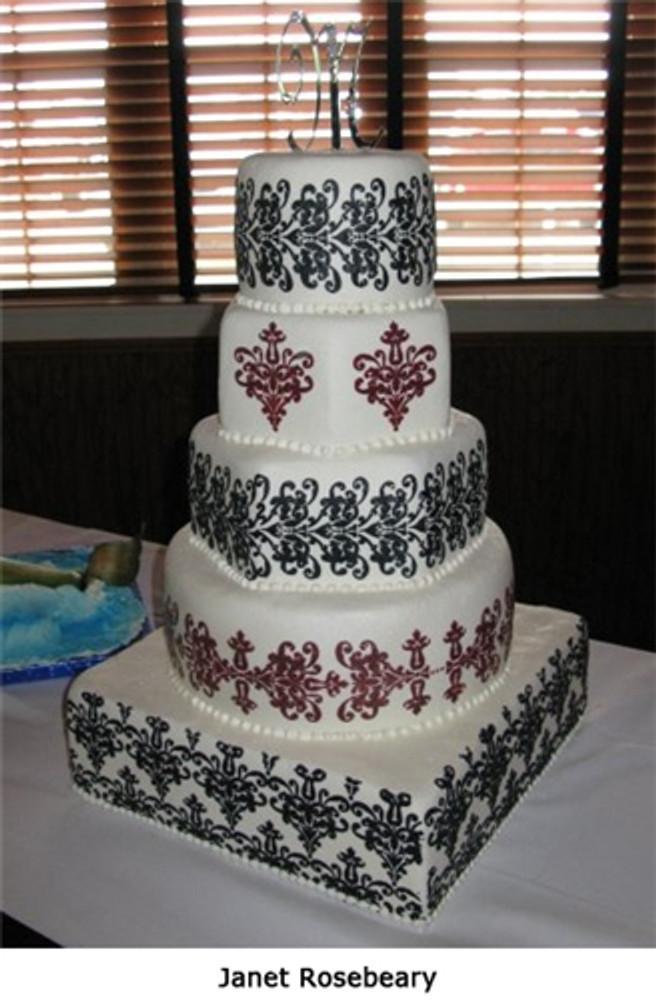 5 tier Lace Cake Stencil Set