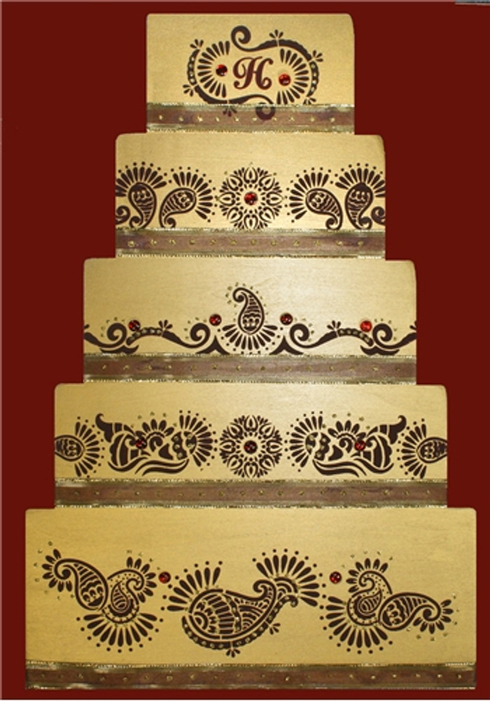 Mehndi Cake Tier #2 Cake Stencil