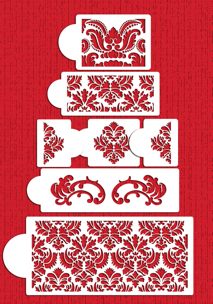 Martha Stewart's Damask Cake Stencil Set