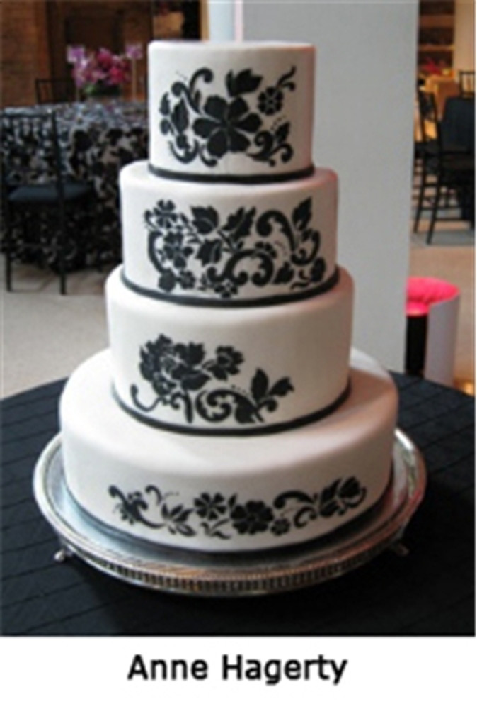 Floral Explosion Tier #1 Cake Stencil