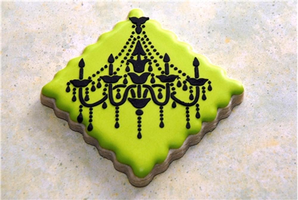 Chandelier Cake Stencil Set