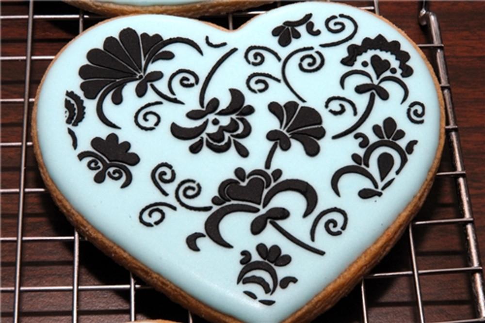Winterthur Heart Cookie Stencil Set (no cutter)