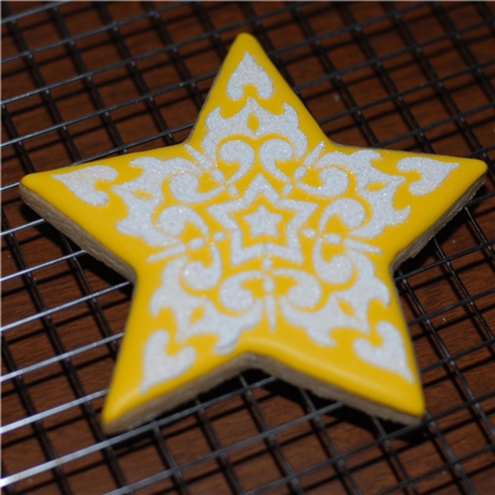 Ornate Scroll Star Cookie Set (no cutter)