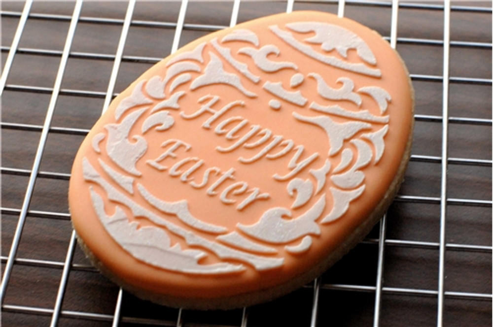 Fancy Easter Egg Cookie Stencil Set (no cutter)