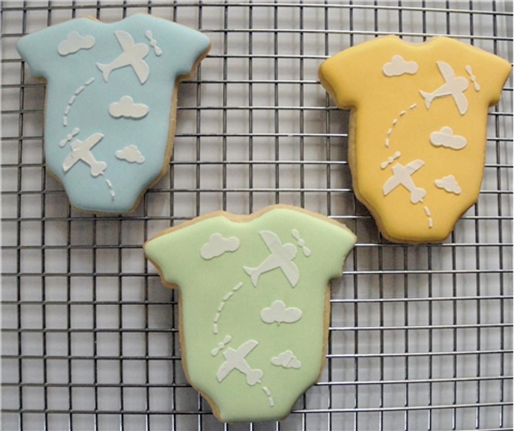 Baby Onesie Cookie Stencil Set (no cutter)
