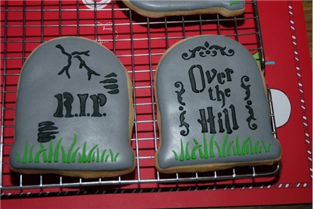 Tombstone Cookie Stencil Set (no cutter)
