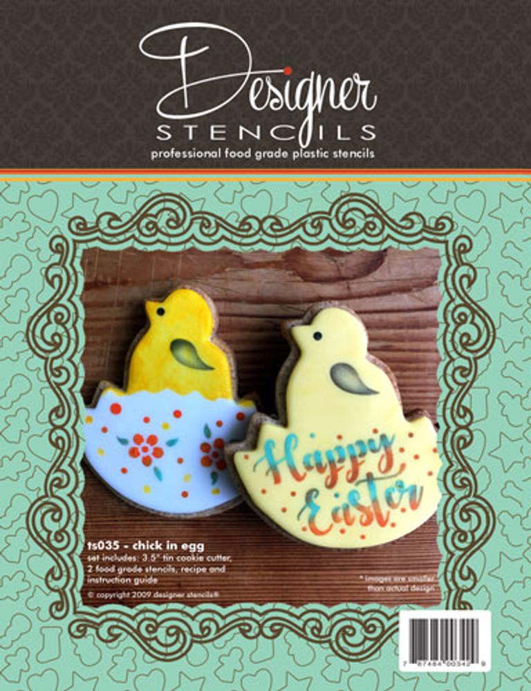 Chick in Egg Cookie Cutter & Stencil Set