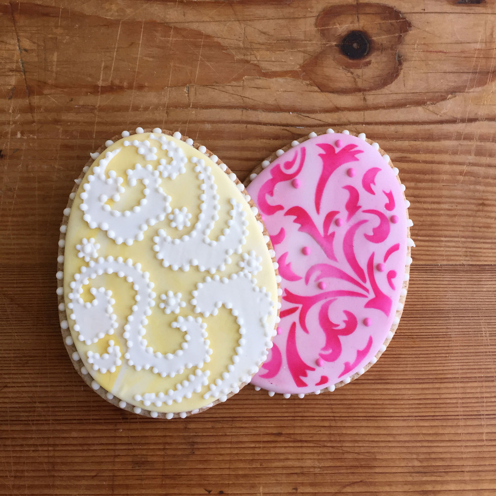 Egg Cookie Cutter & Stencil  Set
