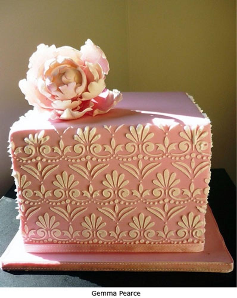 Fleur de Lis Cake Stencil Set