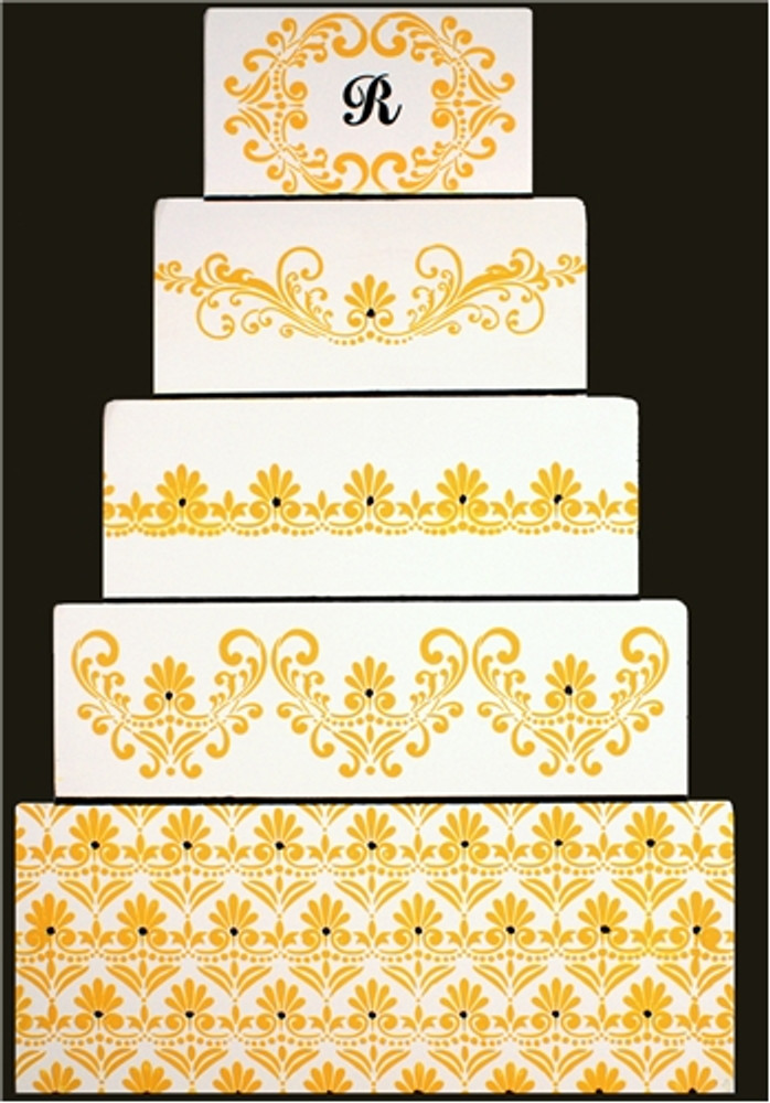 Fleur de Lis Cake Stencil Side #3
