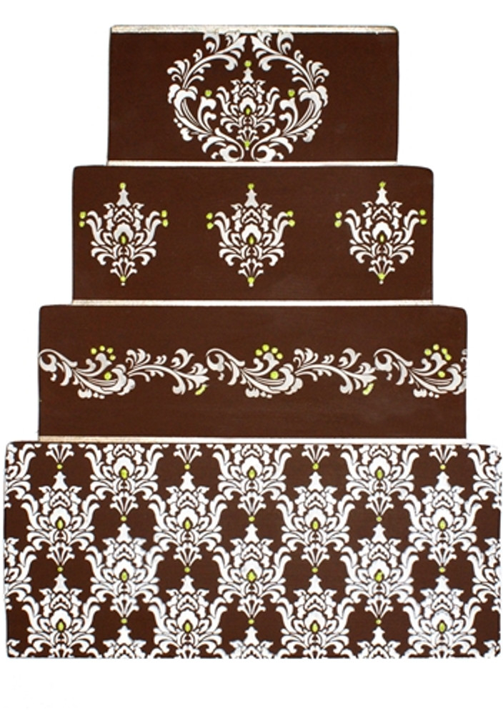 Filigree Damask Cake Stencil Tier #1