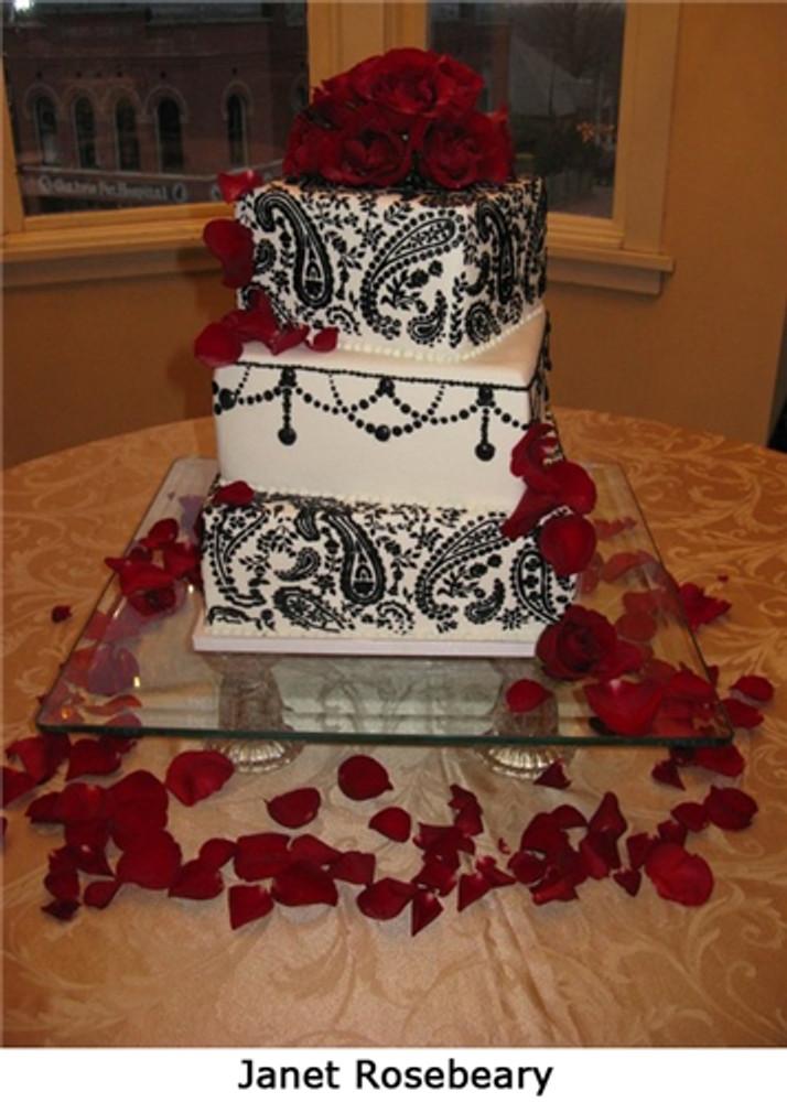 Pearl Swag Cake Stencil Side