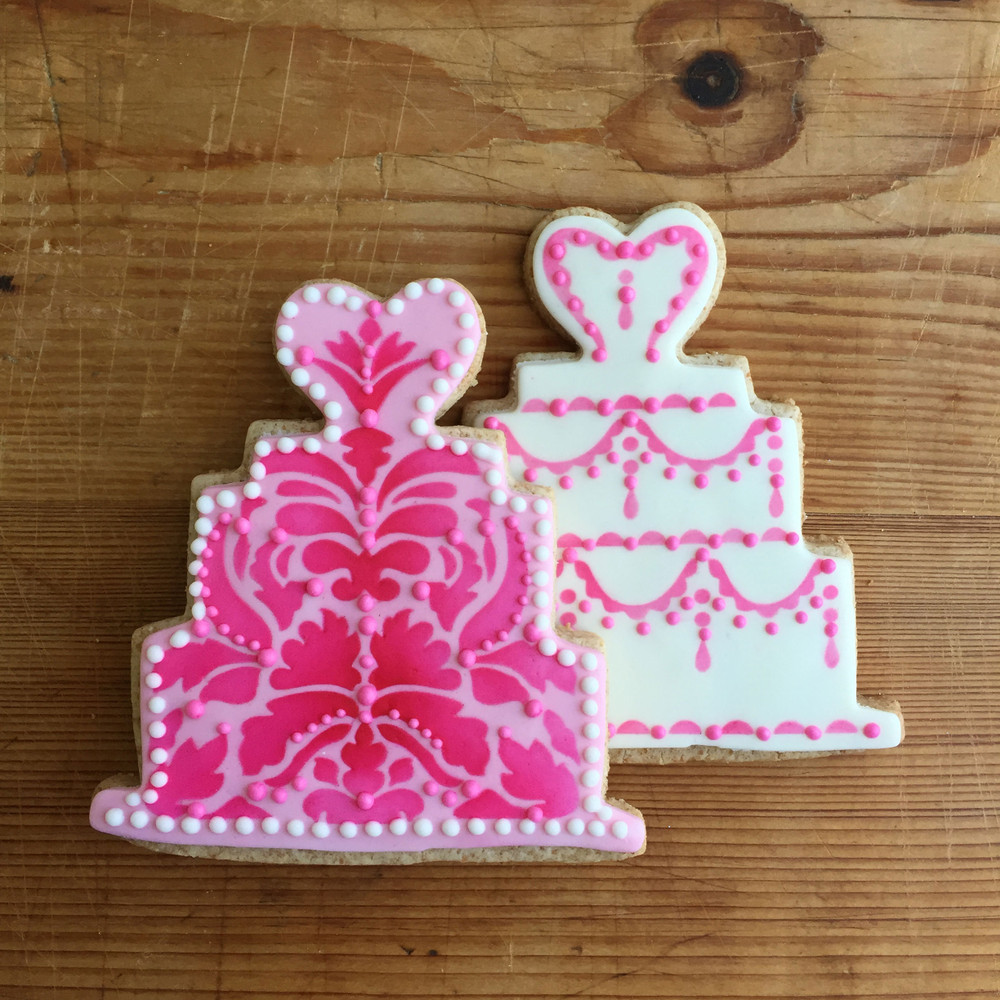 Wedding Cake Cookie Cutter and Stencil Set