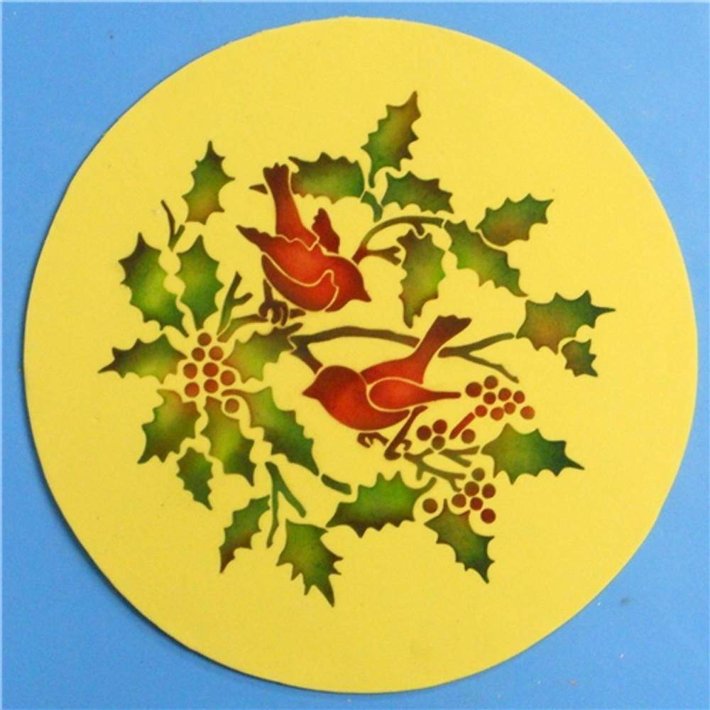 Winterthur Birds and Holly Cake Stencil Set