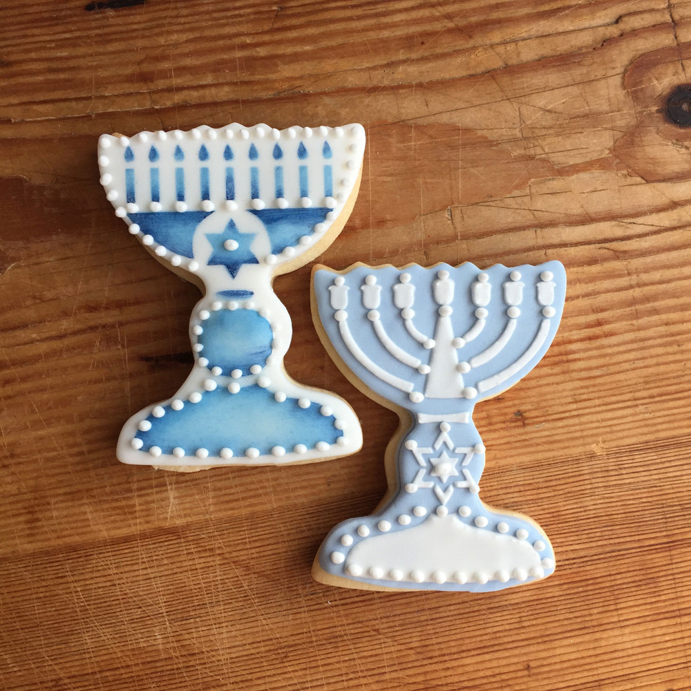 Jewish Candles Cookie Cutter and Stencil Set