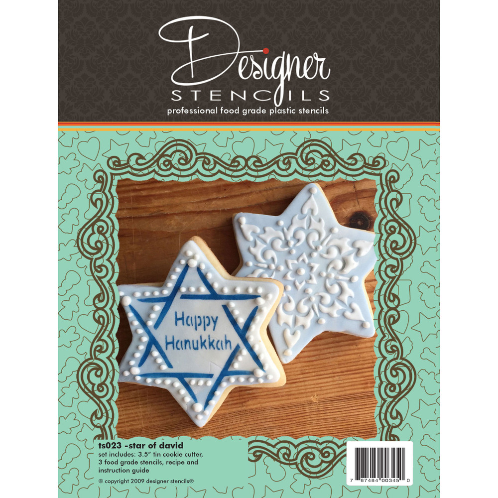 Star of David Cookie Cutter and Stencil Set
