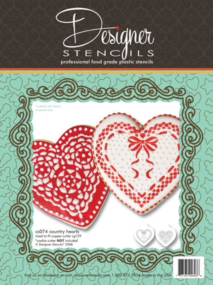 Country Hearts Stencil Set (no cutter)