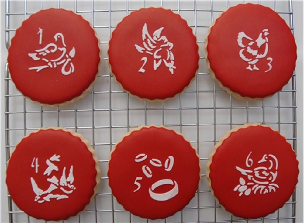Twelve Days of Christmas Cookie Stencil