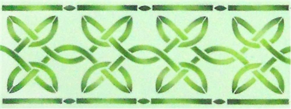 Two inch Celtic Twine Cake Stencil