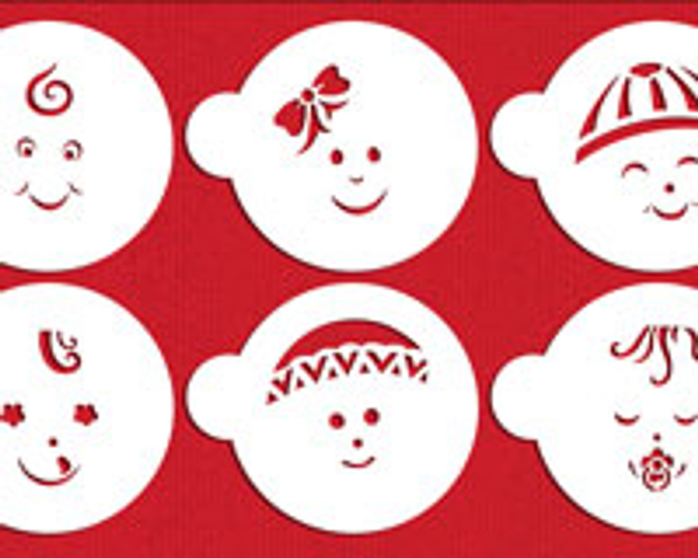 Baby Faces Cookie Stencils