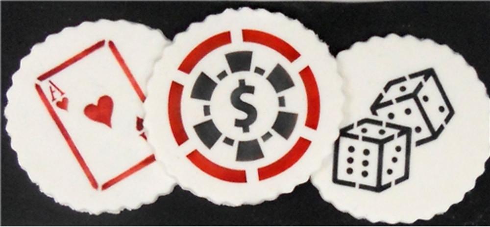 Casino Night Cookie Stencil