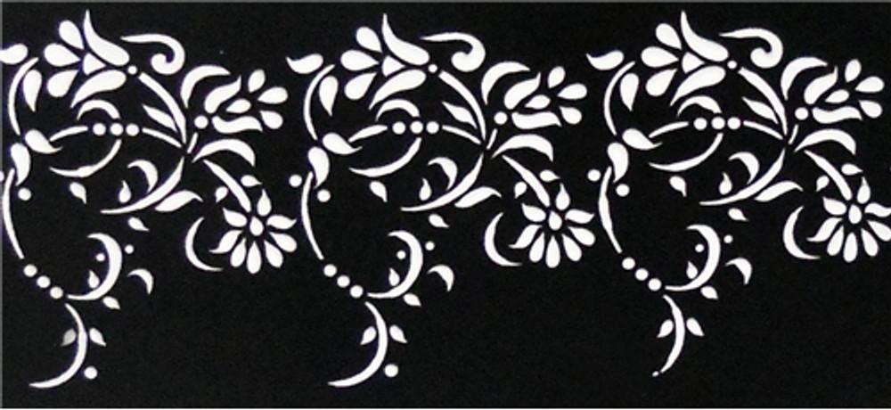 Medium Vintage Lace Cake Stencil Side