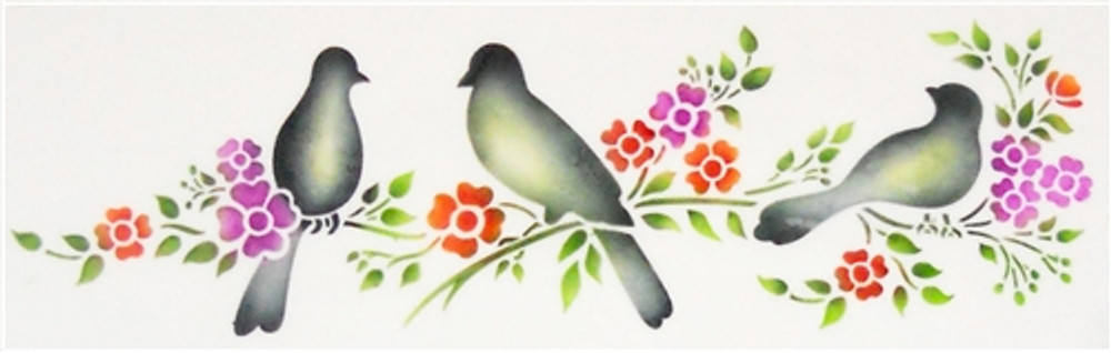 Love Birds Cake Stencil Side