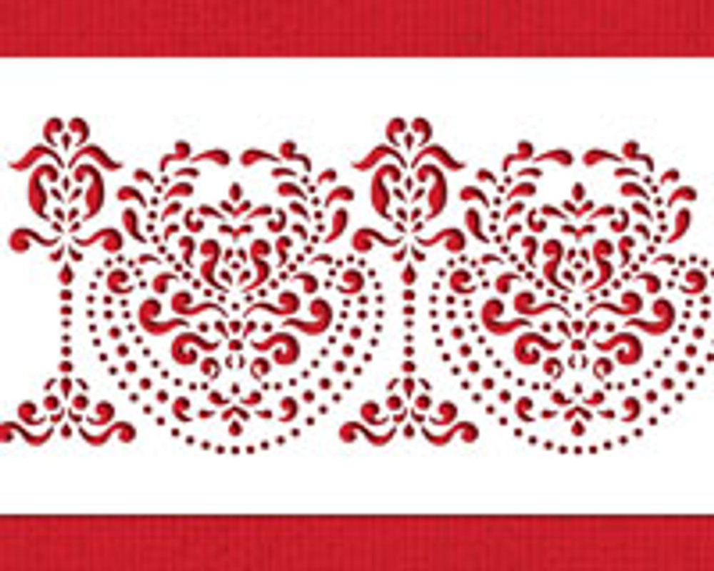 Rosepoint Lace Cake Stencil