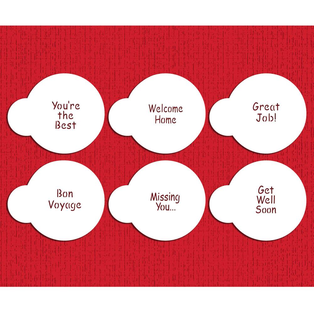 Encouragement  Lettering Cupcake Stencil Set