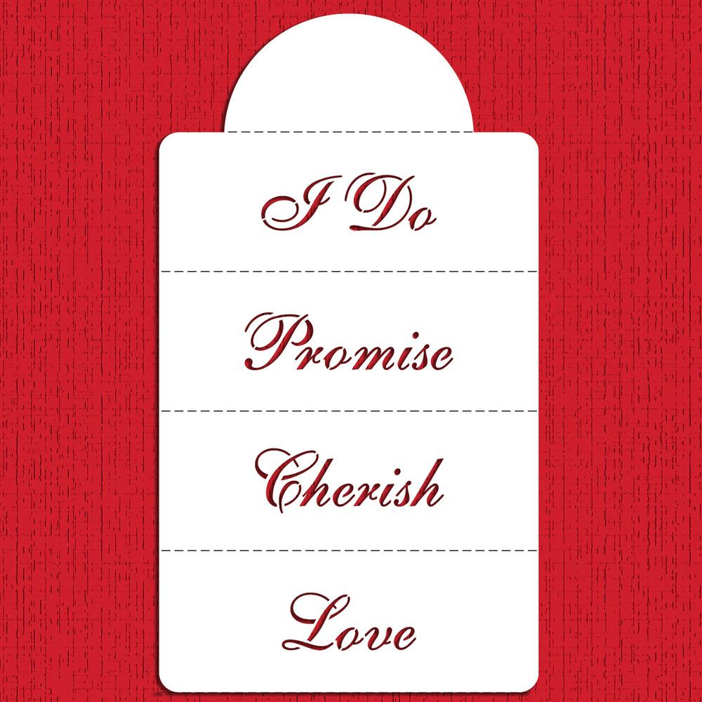 Love & Cherish... Cake Stencil