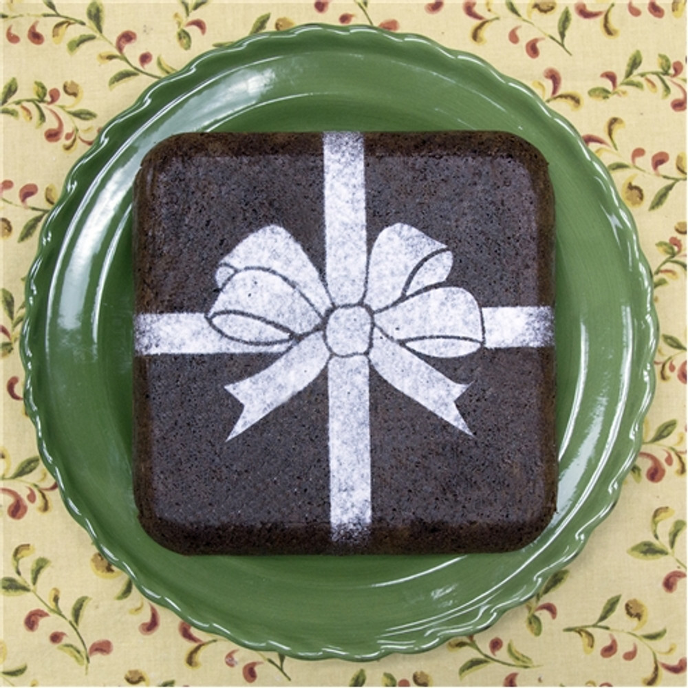 Wrapped With a Bow Cake Stencil