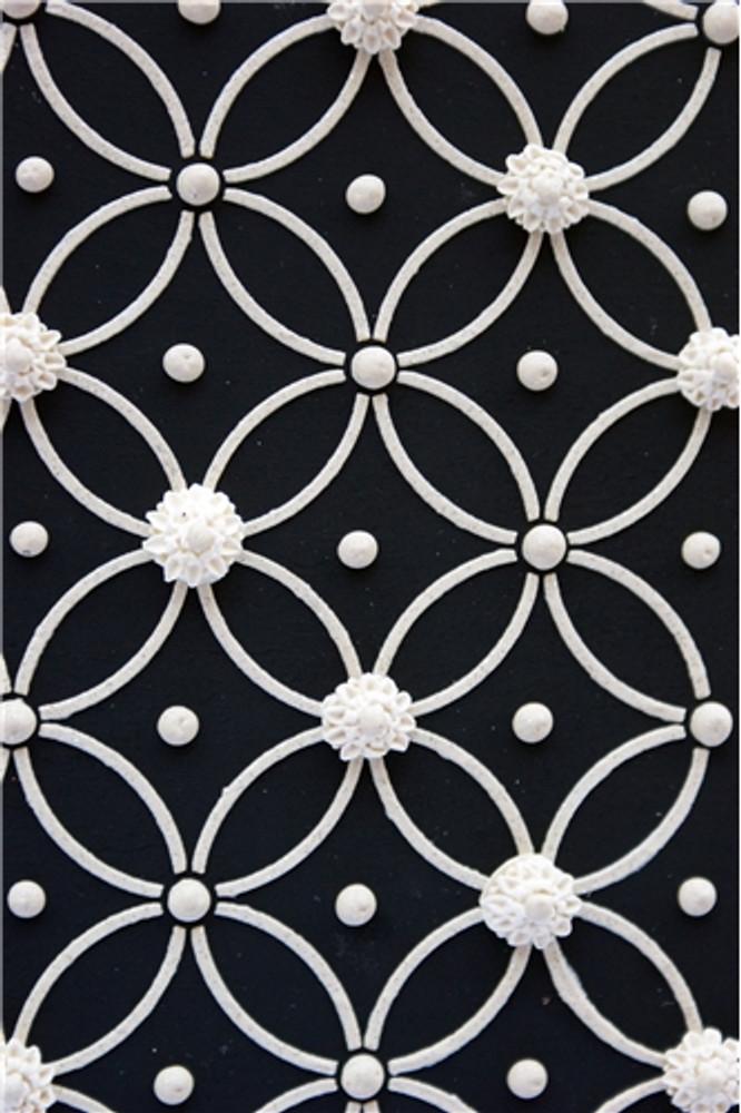 Deco Interlocking Circles - 2 Rows Cake Stencil